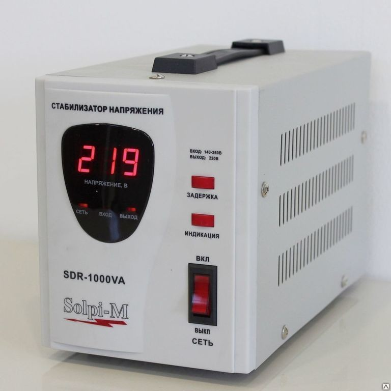 Стабилизатор напряжения SOLPI-M SDR 1000 ВА фото 2