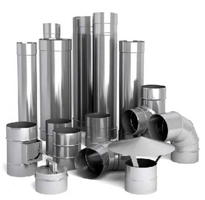 Дымоходы из нержавеющей стали. Утепленные, разных диаметров и длин.